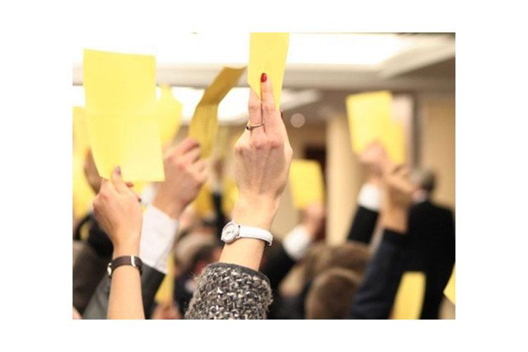 руки голосуют